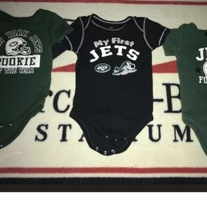 NY Jet Baby one peices 3-6M  Lot Of 3